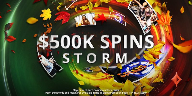 $500,000 up for grabs at partypoker's SPINS Storm promotion